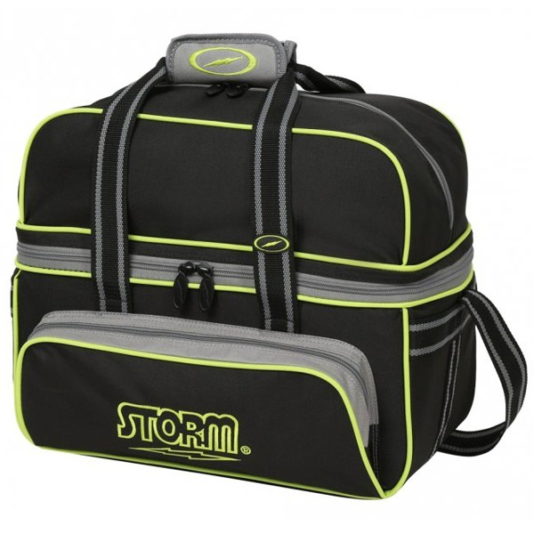 Bowlingtasche Storm 2-Ball Tote DeLuxe BlackGreyLime