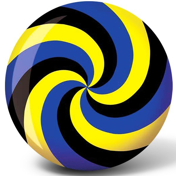 Bowlingball BRUNSWICK Viz-a-Ball Spiral YellowBlueBlack
